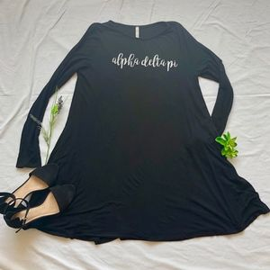 Dresses & Skirts - Alpha Delta Pi Piko Style Dress with Pockets